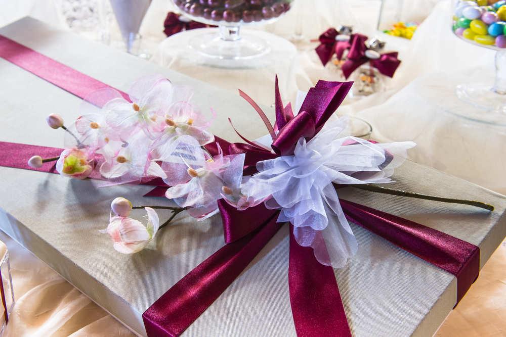 Un regalo de boda con diseño